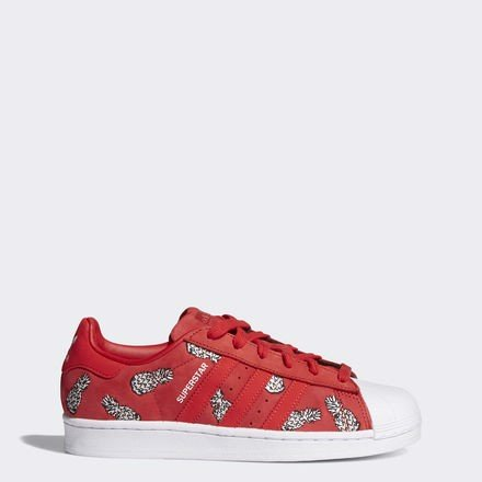 [B28040] ADIDAS SUPER STAR SCARLET RED