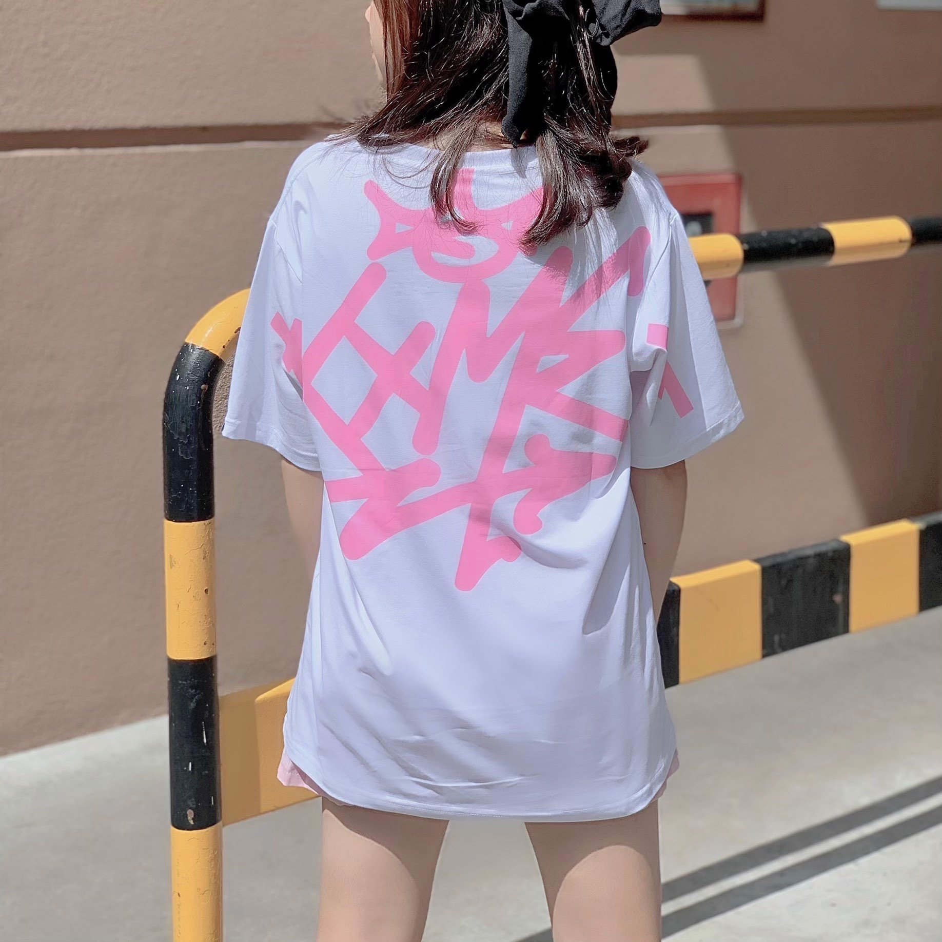 Pink Ver. Big Icon Tee - White