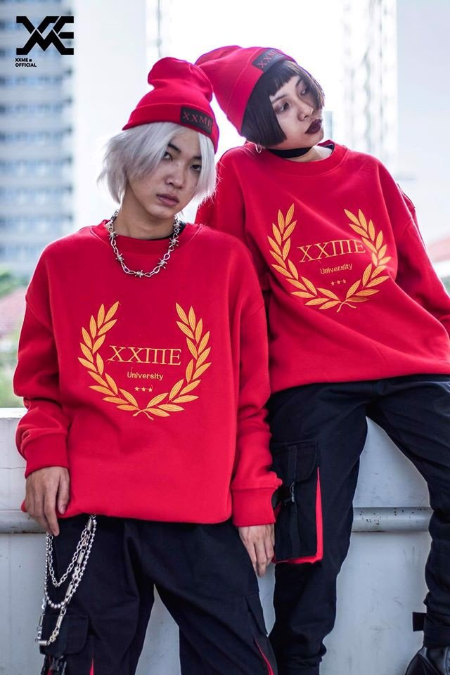 University Sweater - Đỏ