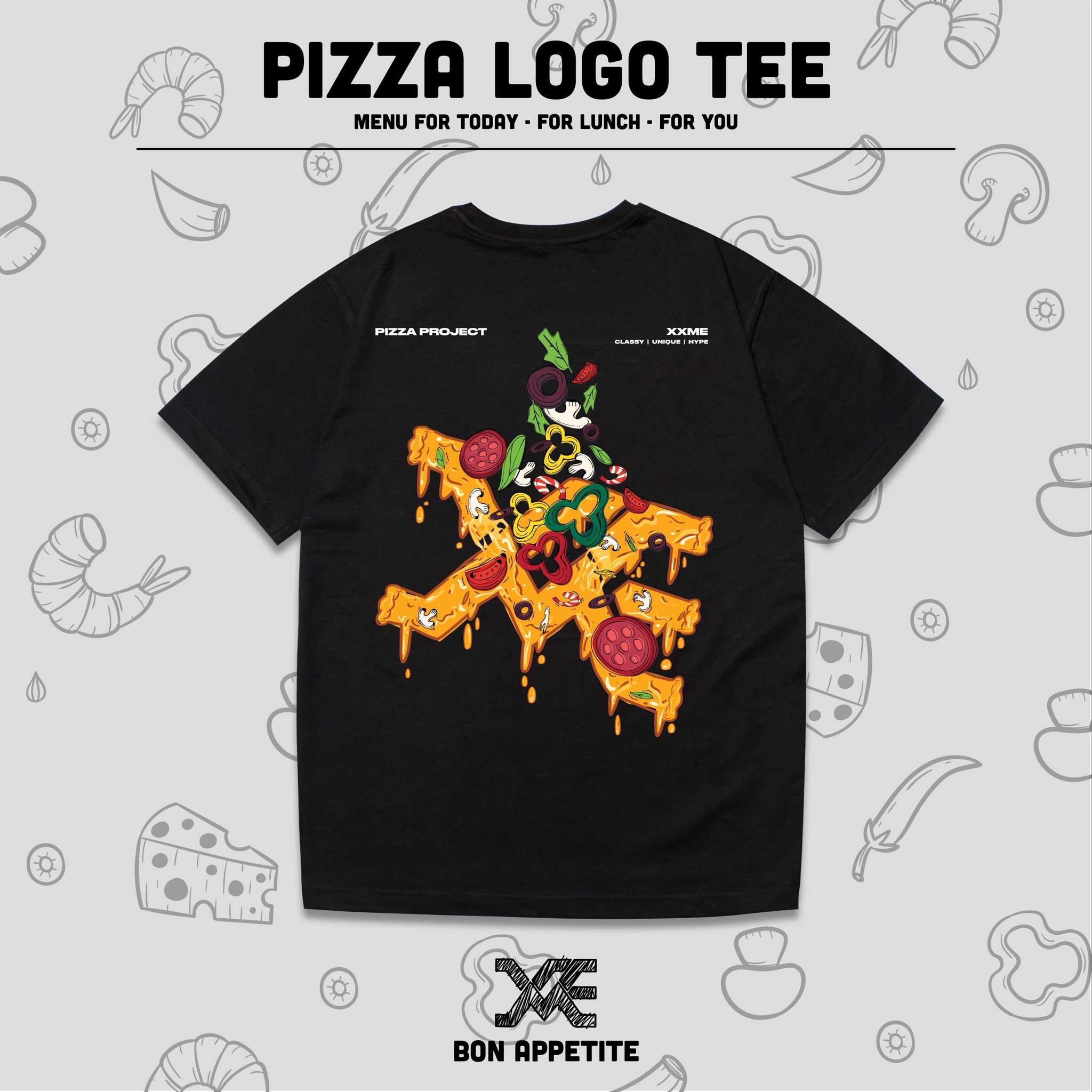 Pizza Tshirt - BLACK