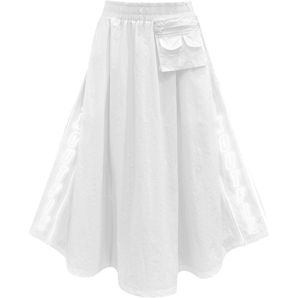 MICRO CHIP SKIRT (WHITE)