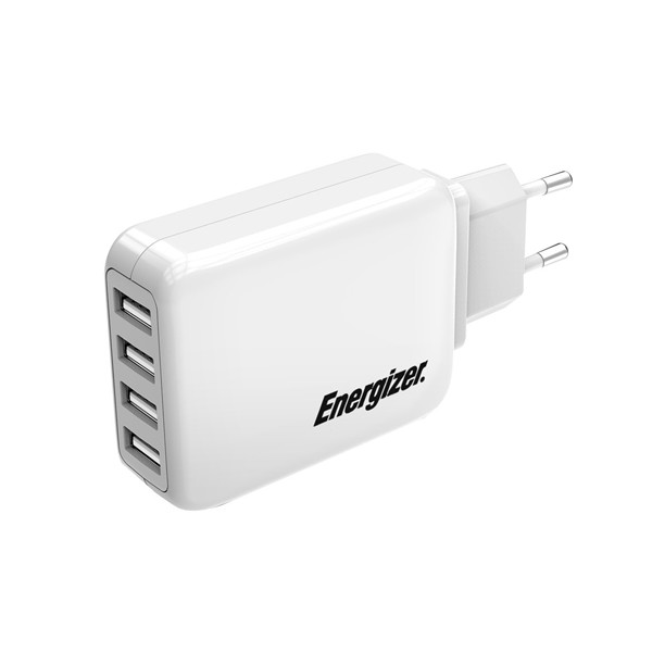 Sạc Energizer USB Station CL 4 Cổng 21W EU USA4BEUCWH5 - Hàng Apple8