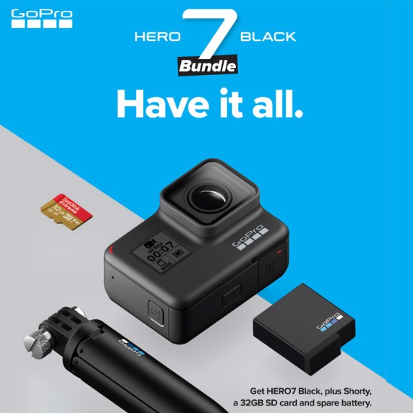 Camera Hành Trình GoPro Hero 7 Black Holiday Promo Bundle 2019 - Hàng Apple8