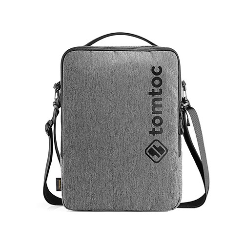 TÚI ĐEO CHÉO TOMTOC (USA) URBAN SHOULDER BAGS FOR ULTRABOOK 15″ GRAY (H14-E02G)