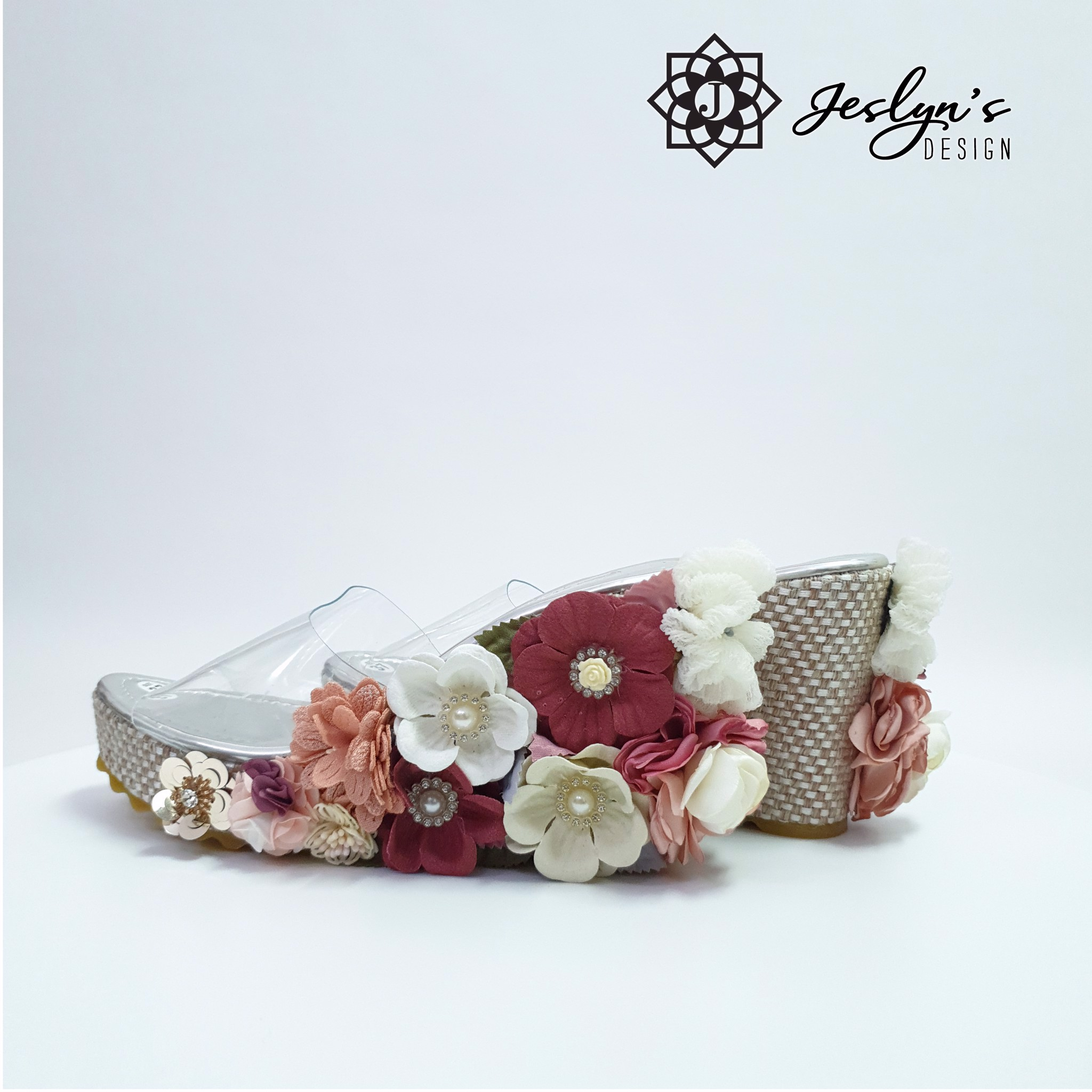 Spring 3D flowers Wedge Sandals - GD03