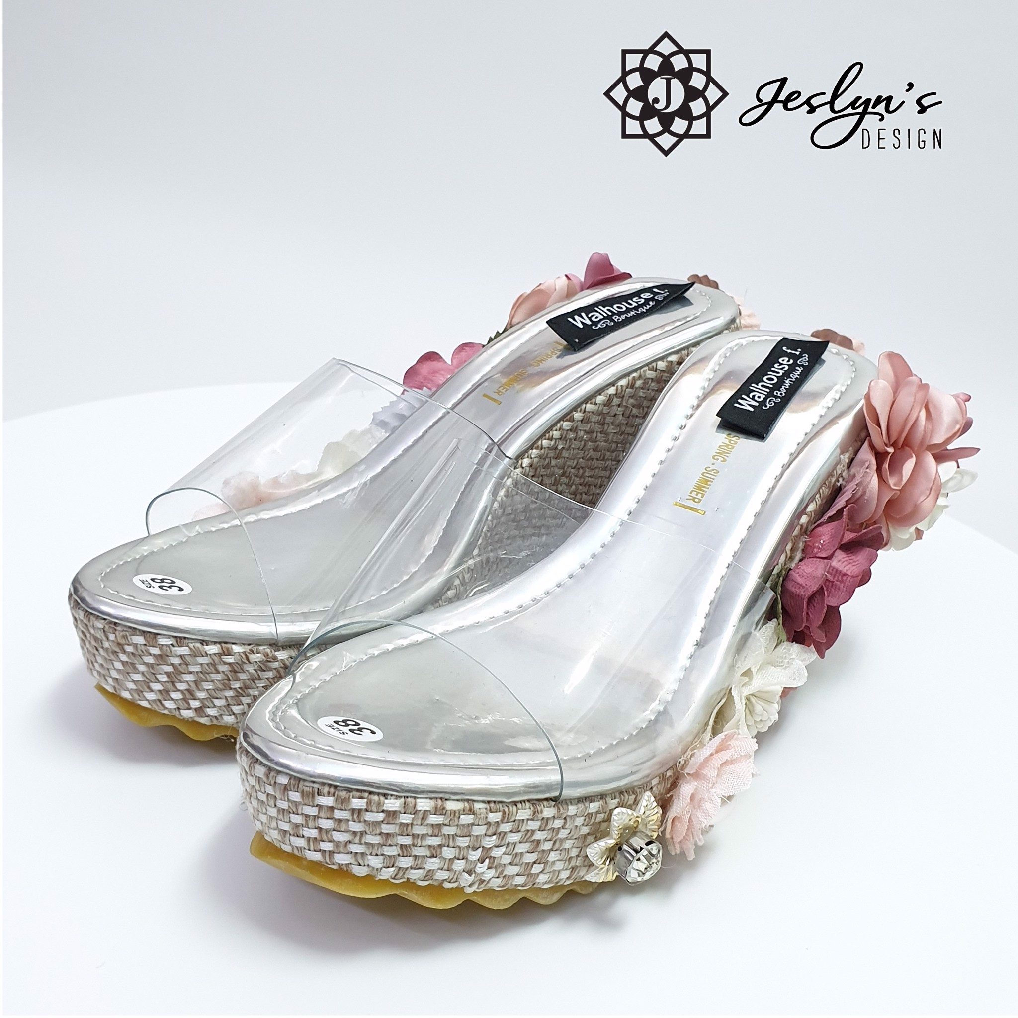 Lovely 3D flowers Wedge Sandals - GD06