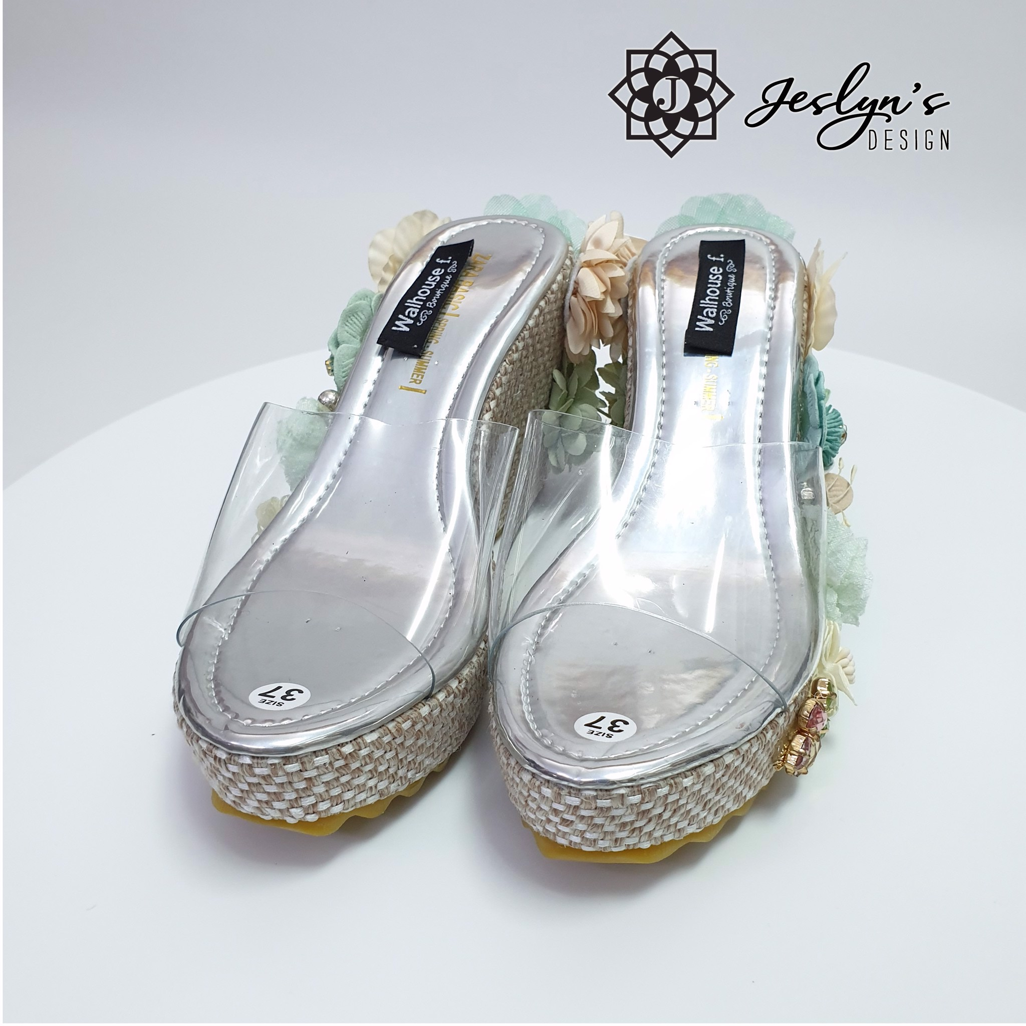 Illusion 3D flowers Wedge Sandals - GD07