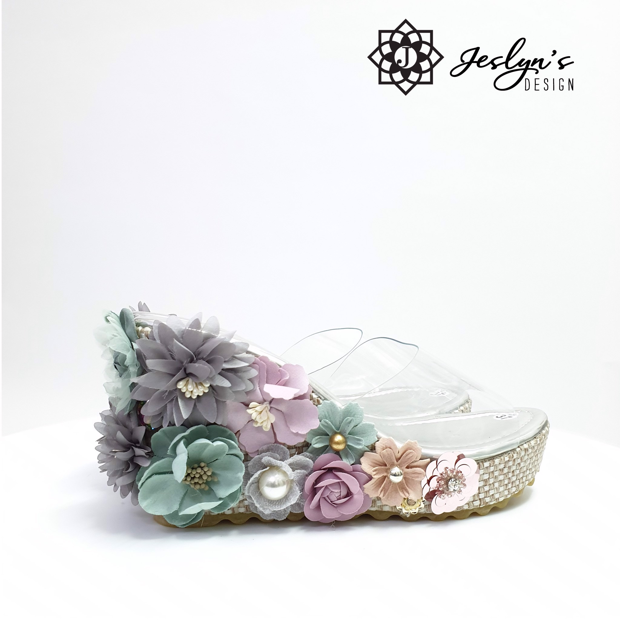 Lovely Garden Wedge Sandals - GD14