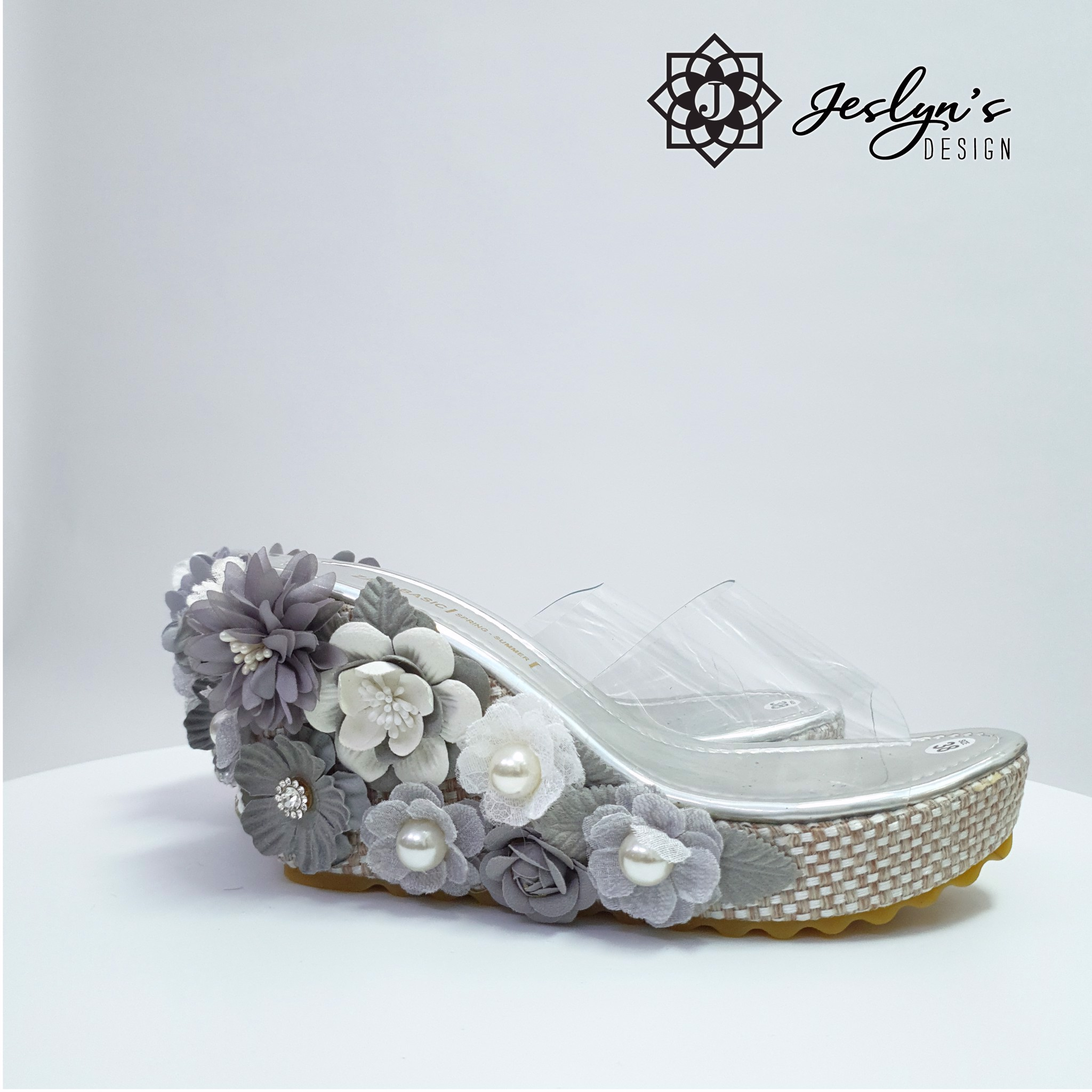 Shade of Grey Wedge Sandals - GD21