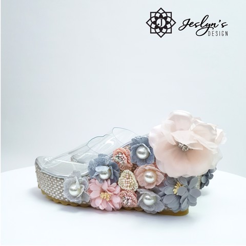 Botania 3D flowers Wedge Sandals - GD25