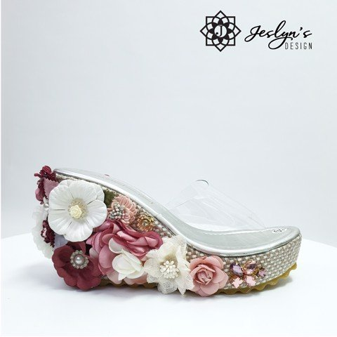 Chaos 3D flowers Wedge Sandals - GD28