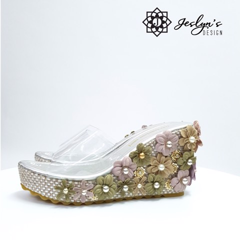 Daisy 3D flowers Wedge Sandals - GD29