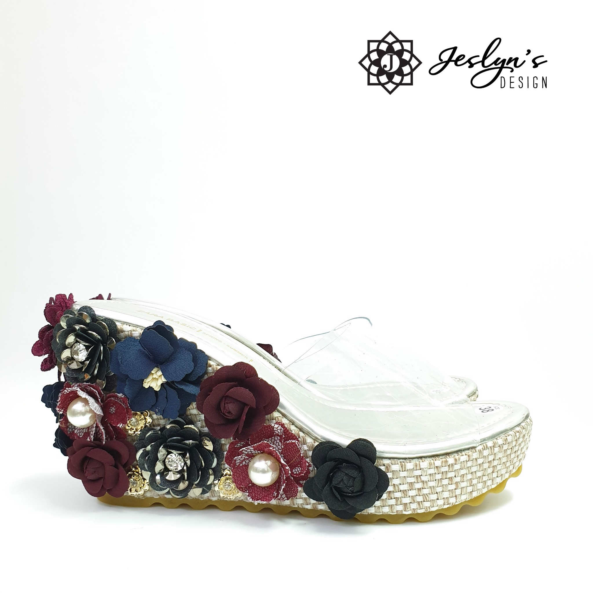 Gothic 3D flowers Wedge Sandals - GD32