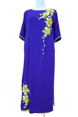 Apricot purple ao dai