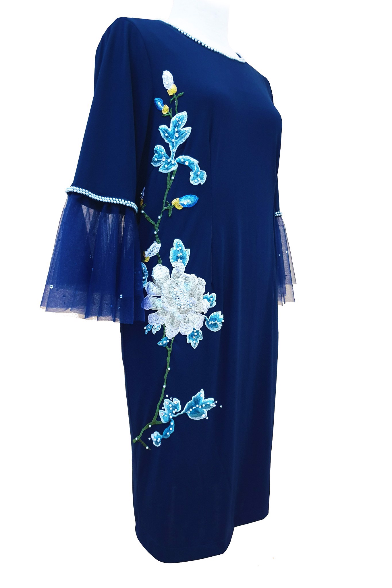 Peony blue dress