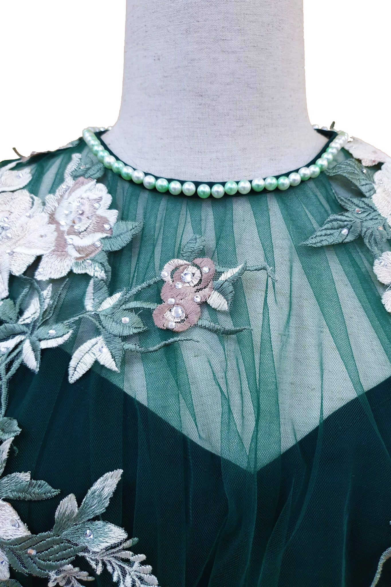 Peony green dress