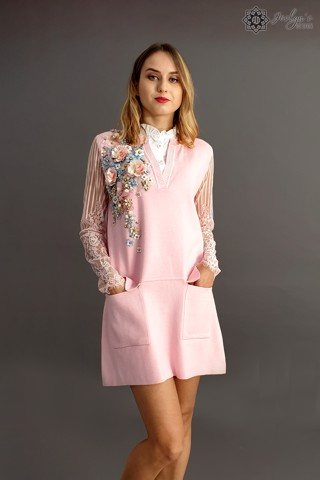Camellia pink dress D23J