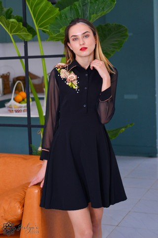 Lisianthus black dress D255J