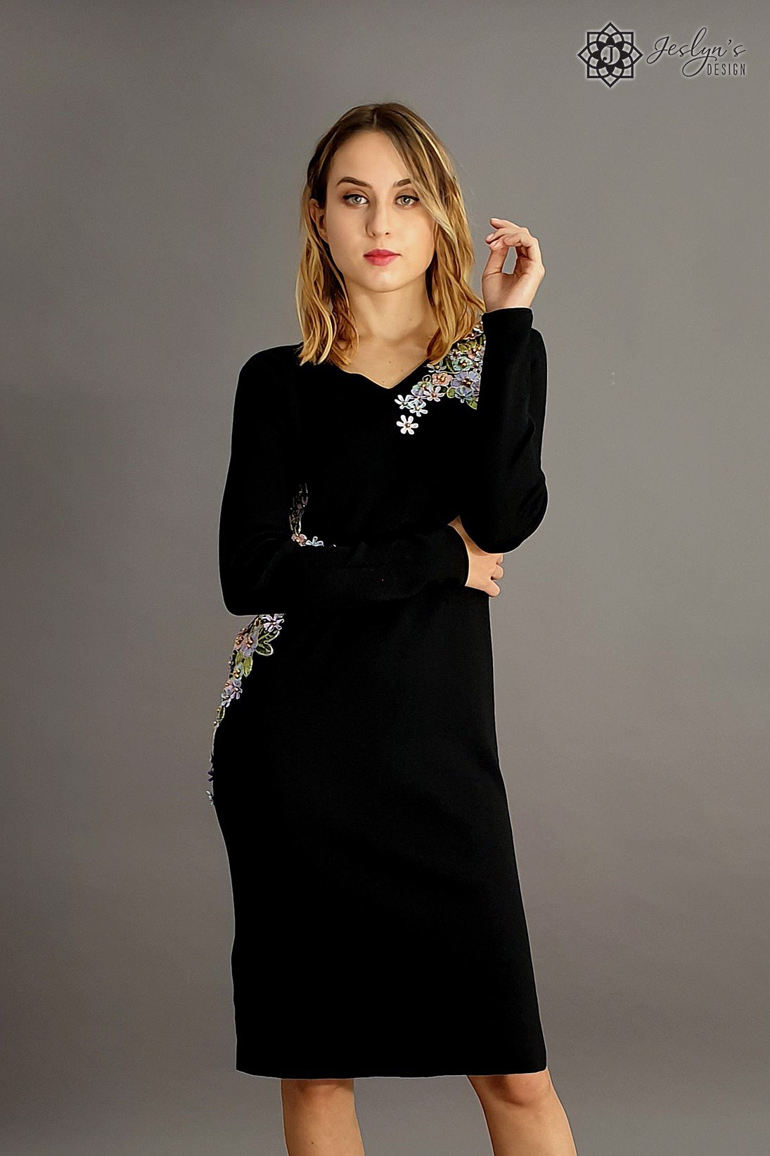 Ume black dress D39J