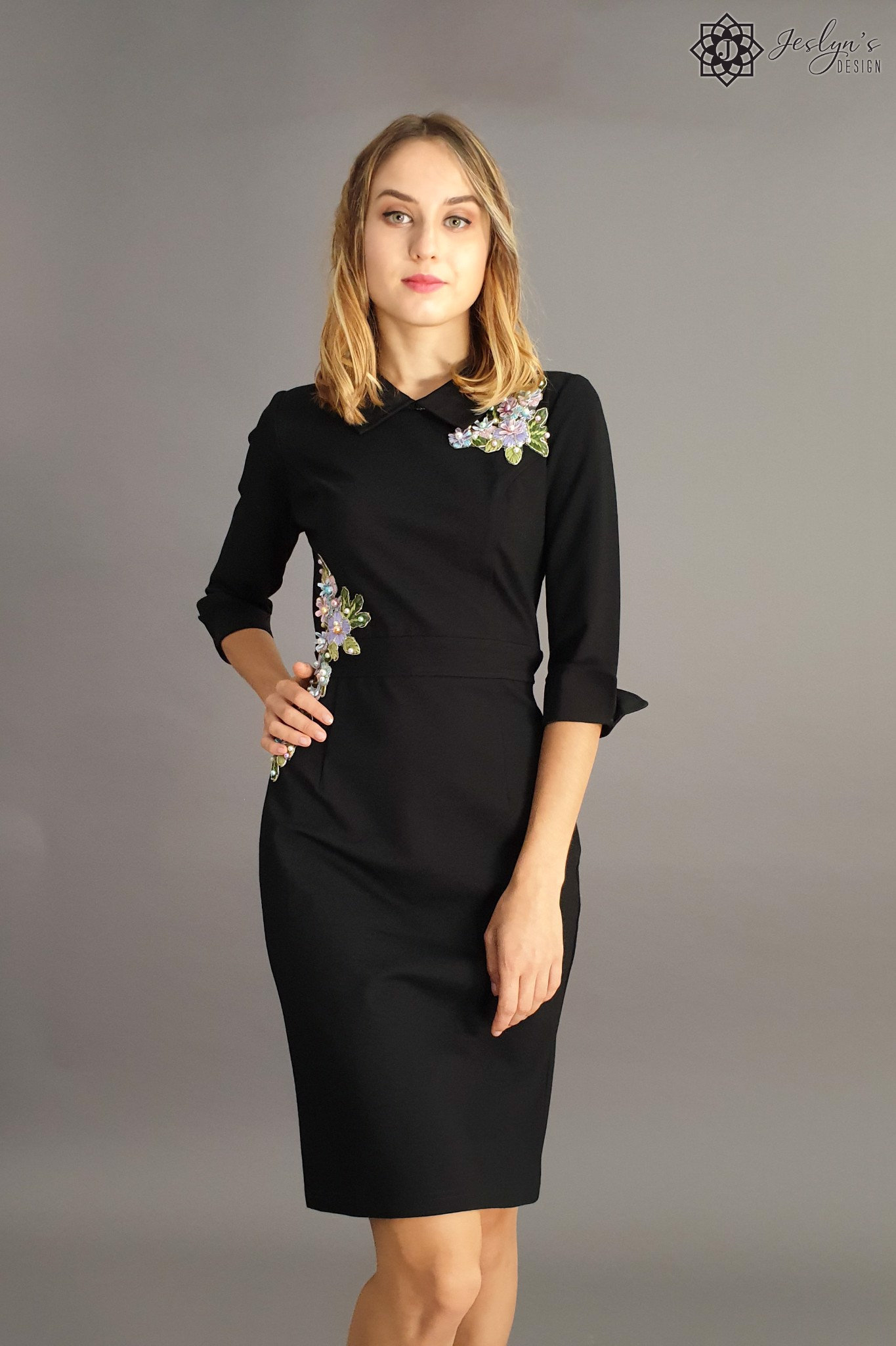 Ume black dress D47J