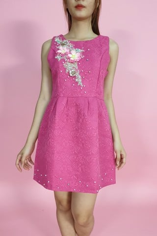 Poppy pink A-shape dress