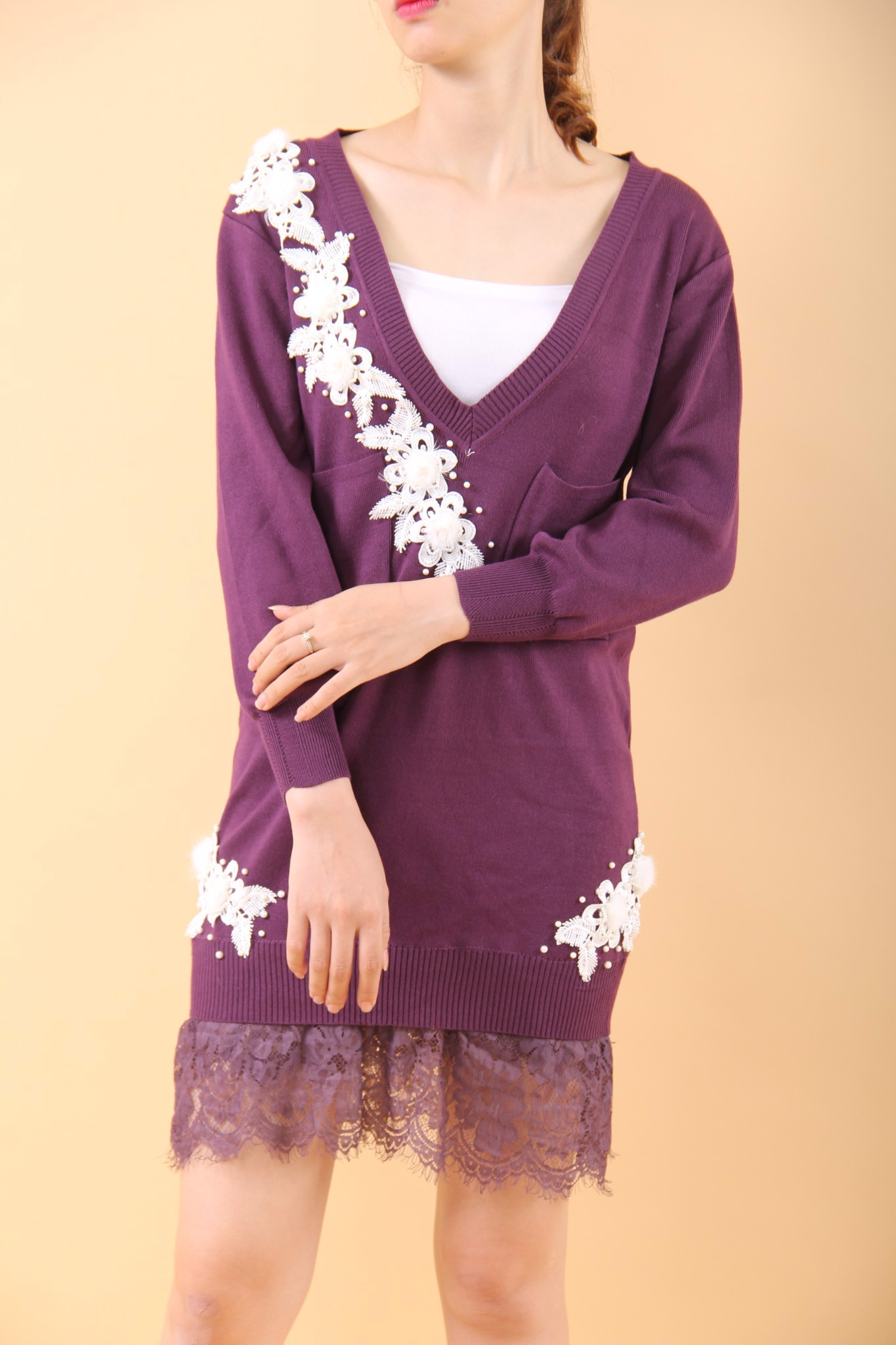 Blanche and Lace purple shift dress