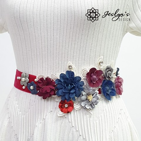 [Gift] Vivid Color Flower Sash - FS24