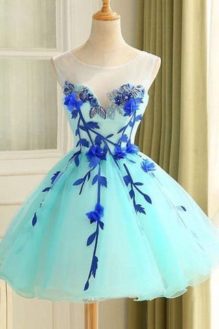 Flower Short Prom Dress Party Dress OK366