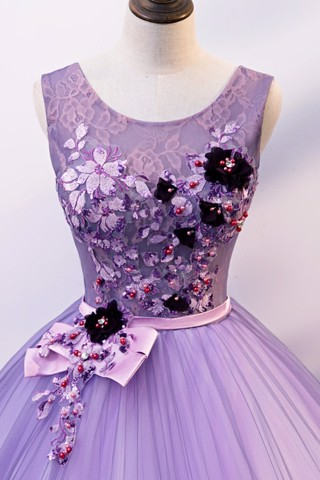 Light Purple Long Halter Prom Dress
