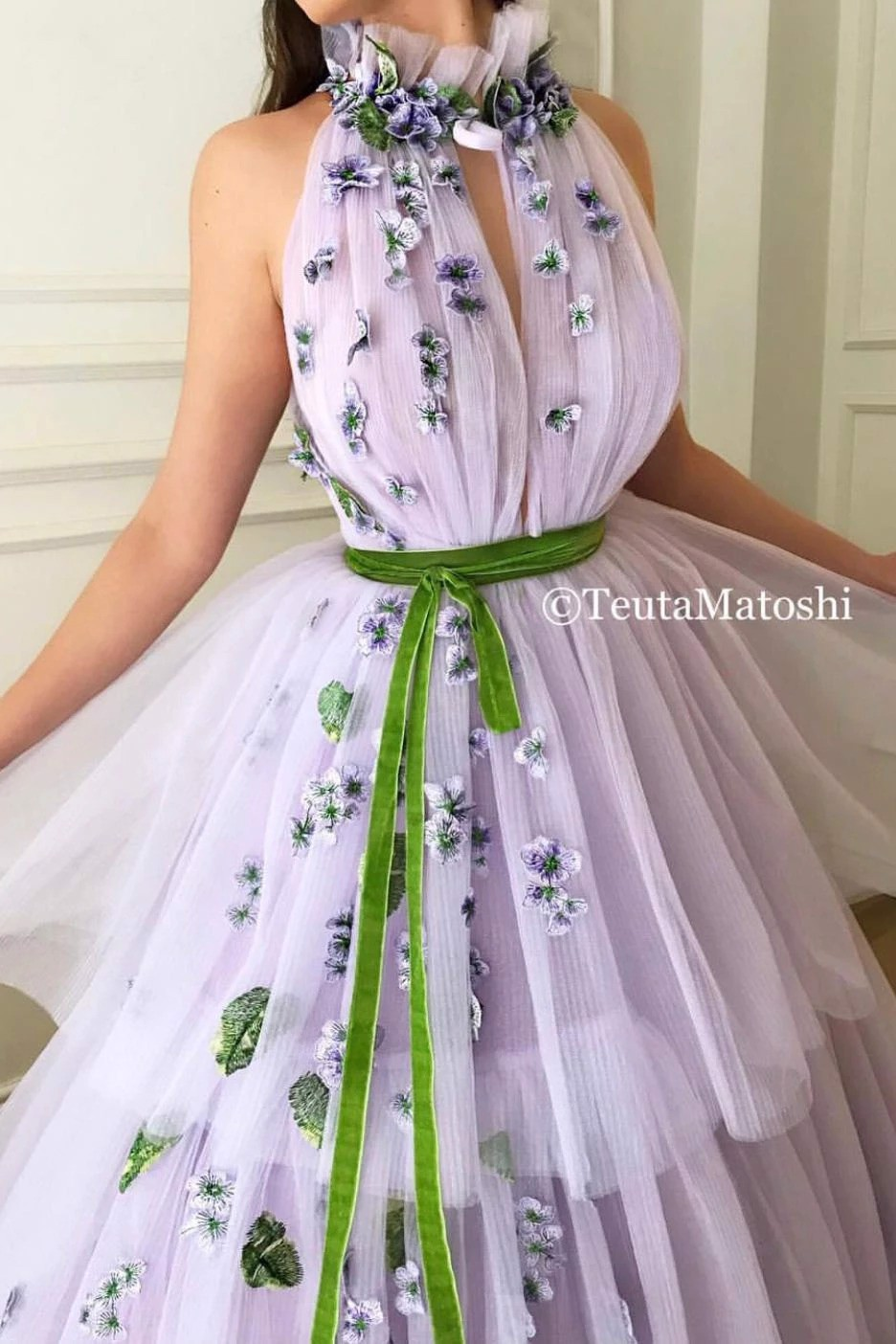 Lavender Bloom Gown