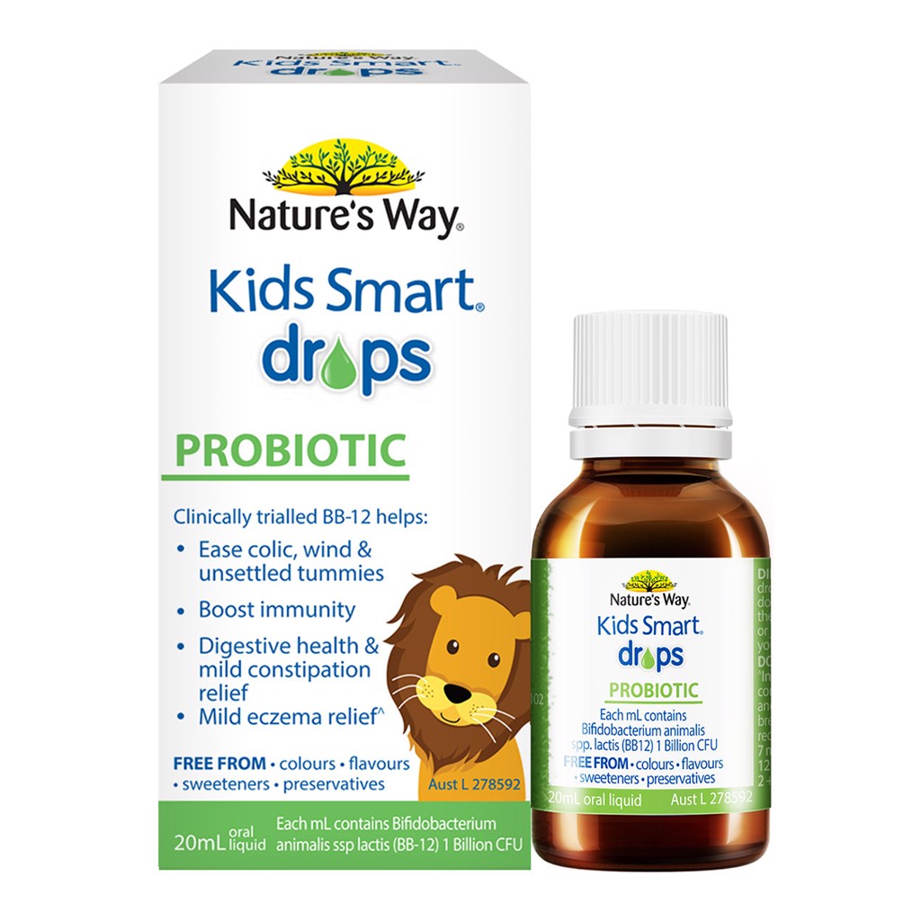 Nature's Way Kids Smart Drops Probiotic lợi khuẩn 20ml MGS