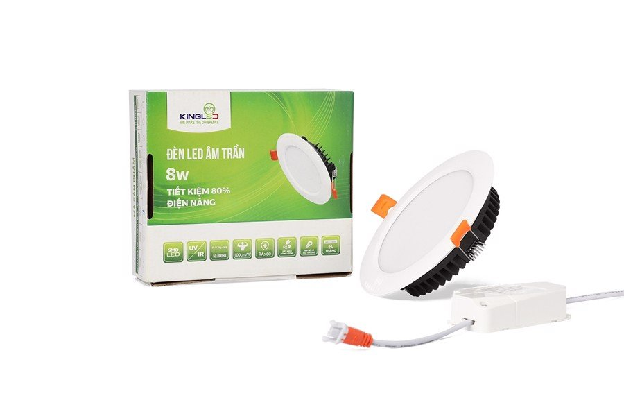 ĐÈN LED DOWNLIGHT 8W 1 MÀU (DL-8-T120)