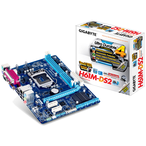 Mainboard Gigabyte H61M-DS2 Renew 1Y