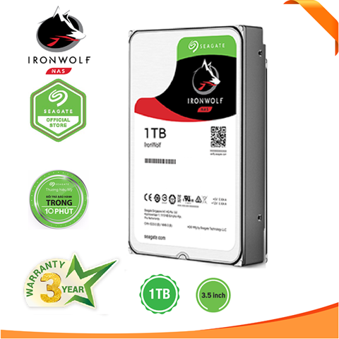 Ổ cứng NAS Seagate Ironwolf 1TB