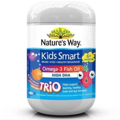 Natures Way Kids Smart Omega-3 Fish Oil Trio 180 Capsules