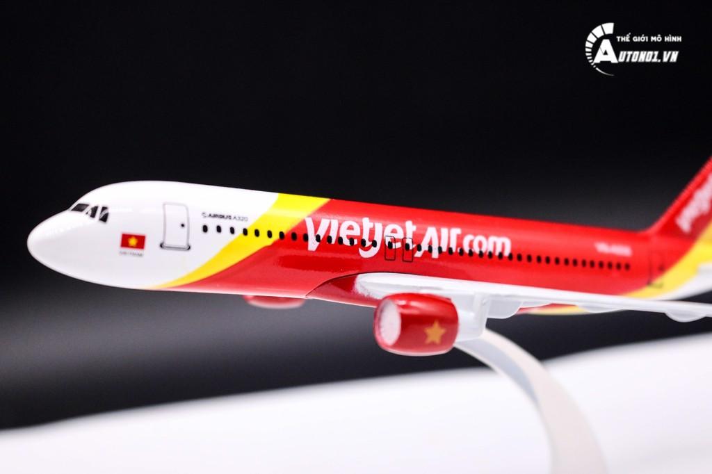 MÔ HÌNH MÁY BAY A320 EVERFLY VIETJETAIR 16CM EVERFLY 6232