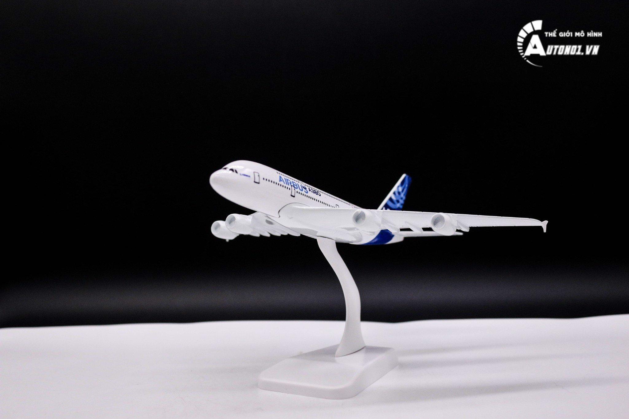 MÔ HÌNH MÁY BAY A380 AIRBUS KHÔNG BÁNH 18CM 6286