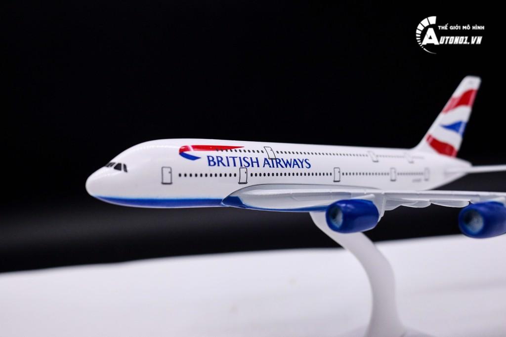 MÔ HÌNH MÁY BAY BRITISH AIRWAYS KHÔNG BÁNH 18CM 6264