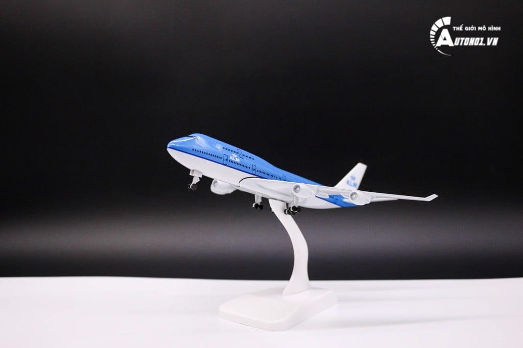 MÔ HÌNH MÁY BAY KLM BLUE 18CM 6283