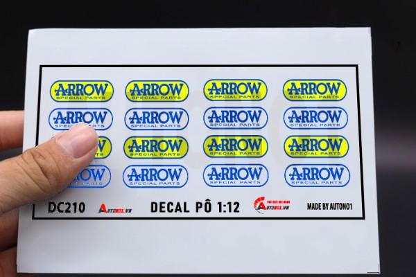DECAL NƯỚC HÃNG PÔ ARROW CÁC LOẠI TỈ LỆ 1:12 DC210