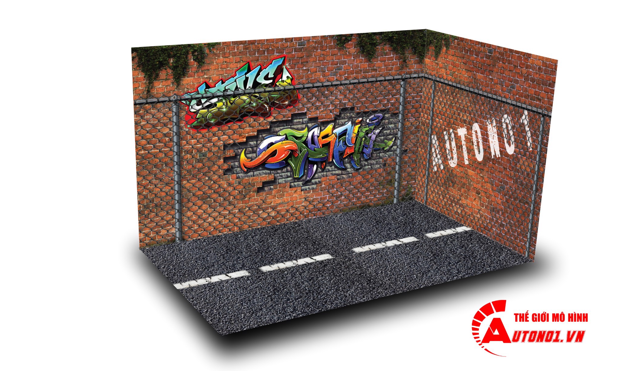 DIORAMA PARKING GRAFFITI 1:24 ( 25CM X 15CM X 15CM ) PK045
