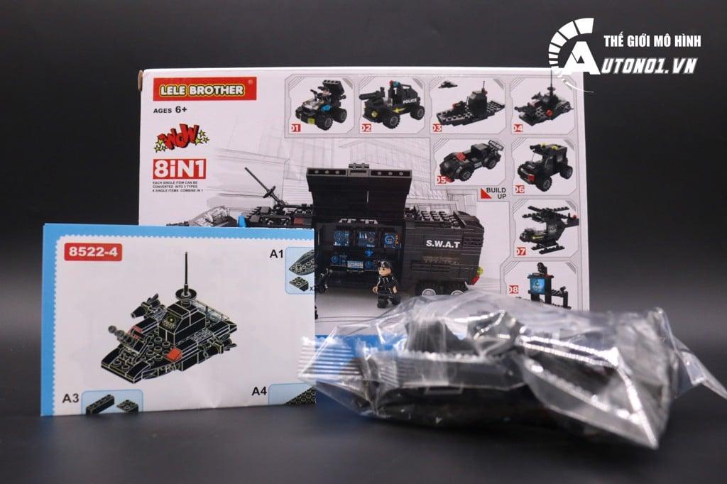 ĐỒ CHƠI LẮP GHÉP NON LEGO S.W.A.T TÀU CHIẾN ĐẤU 6986