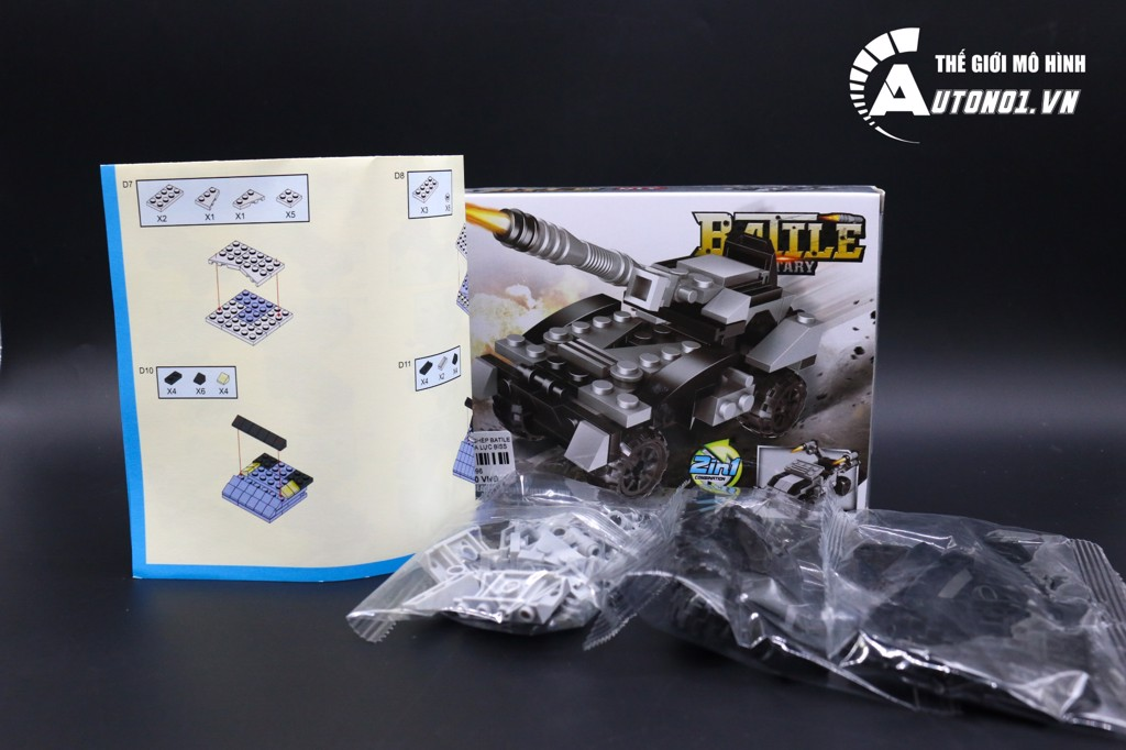 ĐỒ CHƠI LẮP GHÉP NON LEGO BATILE MILITARY HỎA LỰC BISS 6996