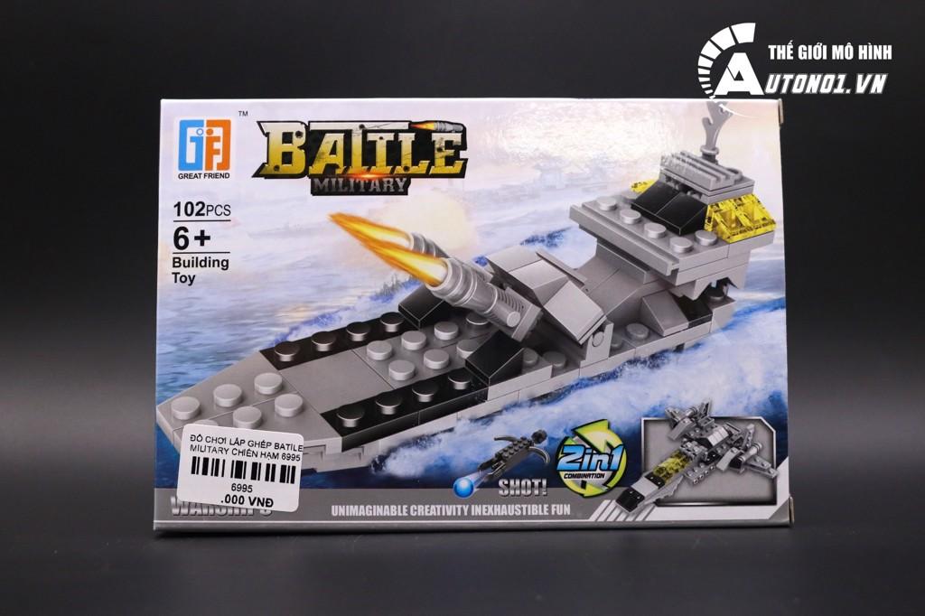 ĐỒ CHƠI LẮP GHÉP NON LEGO BATILE MILITARY CHIẾN HẠM 6995