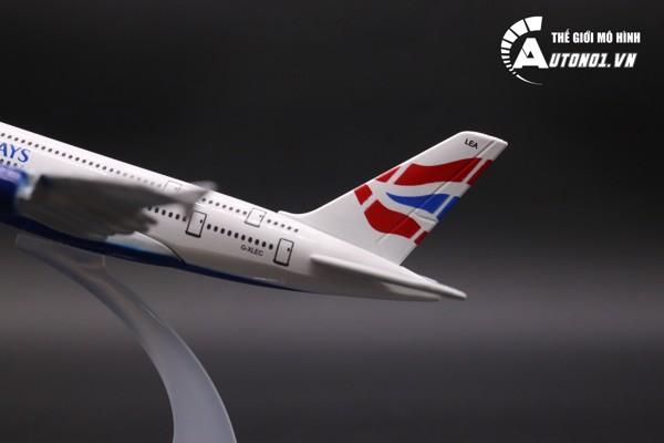 MÔ HÌNH MÁY BAY BRITISH AIRWAYS 16CM EVERFLY 4881