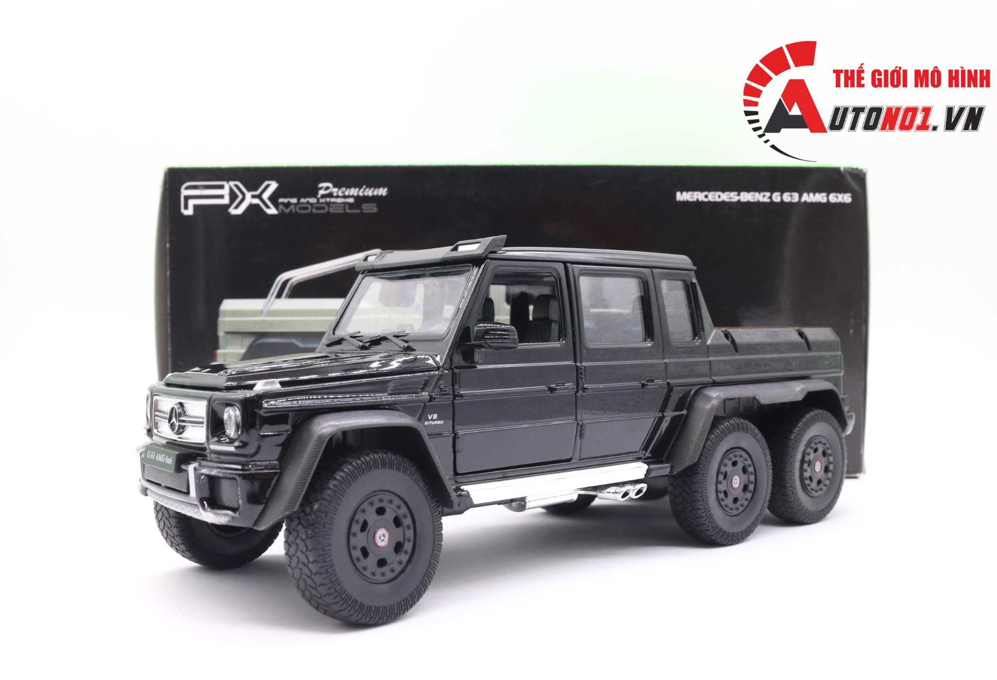MÔ HÌNH MERCEDES BENZ G63 6X6 BLACK 1:24 WELLY 3381
