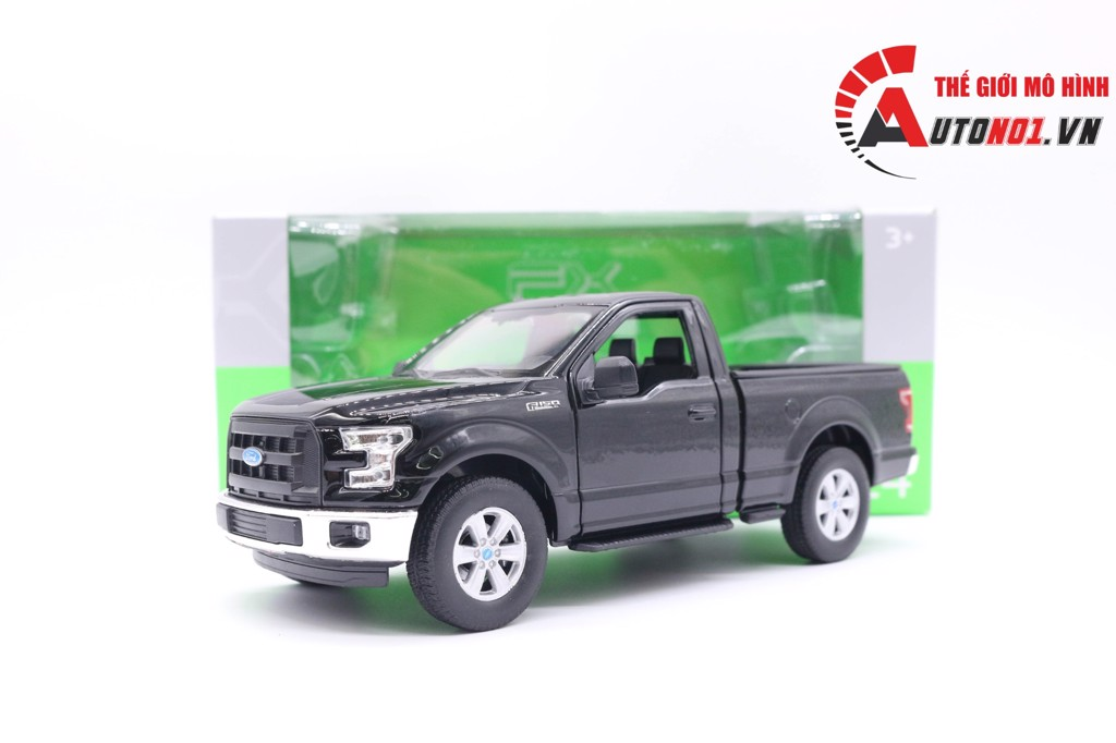 MÔ HÌNH XE FORD F150 REGULAR CAB 2015 BLACK 1:24 WELLY 6492