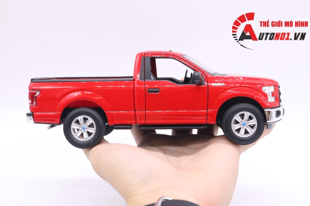 MÔ HÌNH XE FORD F150 REGULAR CAB 2015 RED 1:24 WELLY 6491