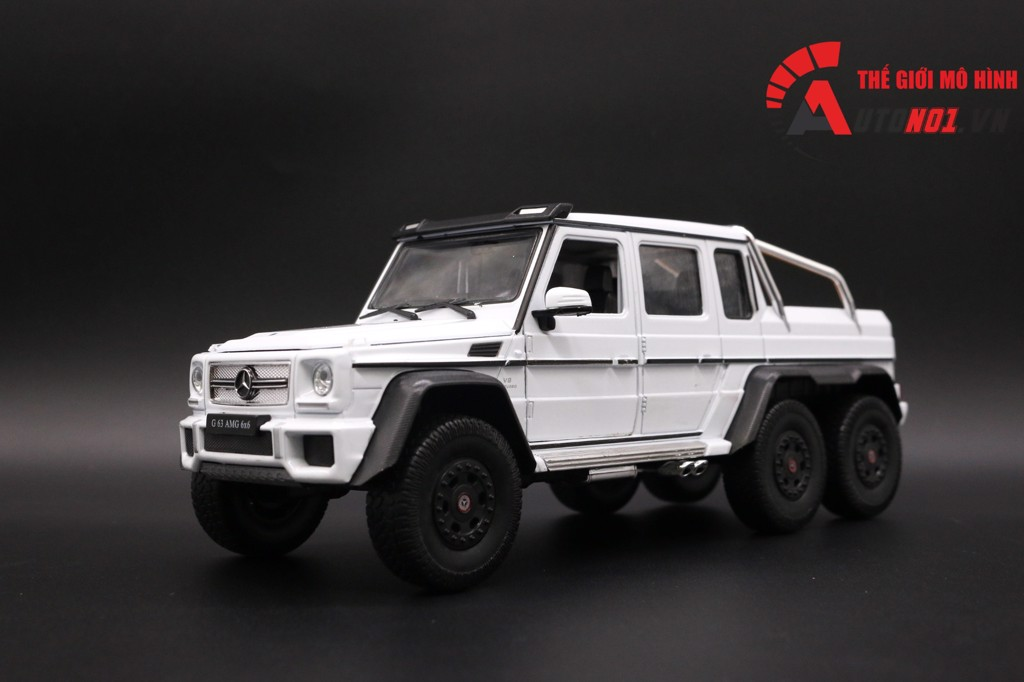 MÔ HÌNH MERCEDES BENZ G63 6X6 WHITE 1:24 WELLY FX 3382