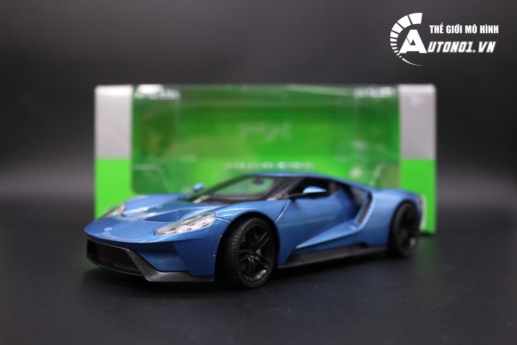 MÔ HÌNH FORD GT 2017 BLUE 1:24 WELLY 5045
